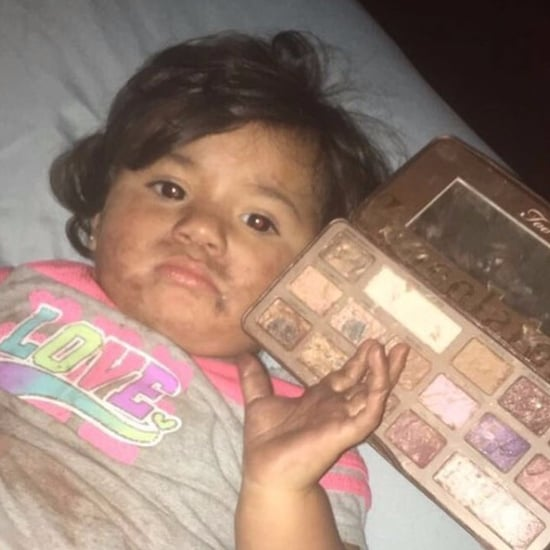 Child Eats Too Faced Chocolate Bar Palette