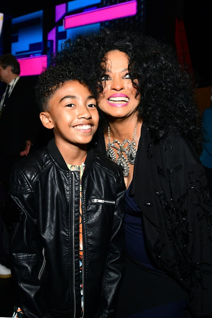 Pictured: Miles Brown and Diana Ross