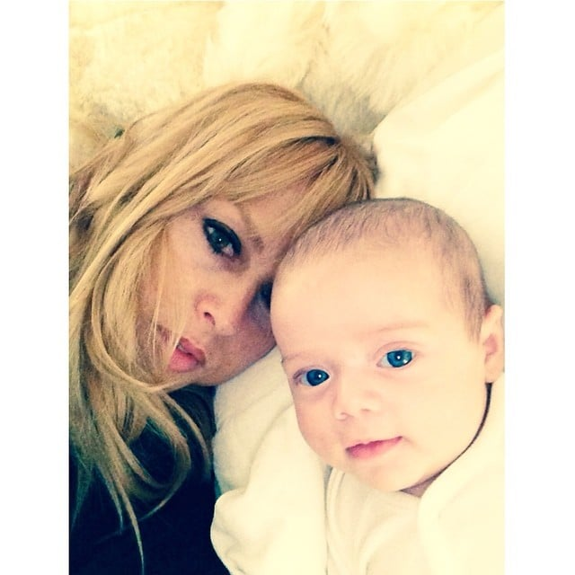 Rachel Zoe showed off baby Kaius's baby-blue eyes. Source: Instagram user rachelzoe