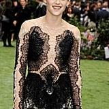 Kristen Stewart wore Marchesa to the London premiere.