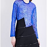 Junya Watanabe Sheer Long-Sleeved Sequin Top
