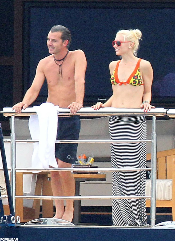 Gwen Stefani chatted with Gavin Rossdale as the two set sail on a yacht in France in May 2011.