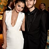 Selena and Zedd stayed close when they brought their rumored love to HBO's Golden Globes party in LA in January.