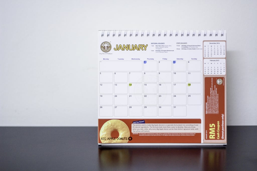 Your 2015 calendar. Throw it away or upcycle it into something awesome.