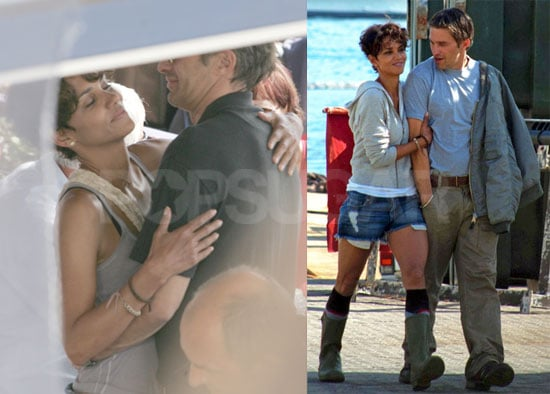 Pictures of Halle Berry and Olivier Martinez Hugging on the Set of Dark Tide