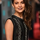 This Is Alicia Vikander's Edgiest Award Season Look Yet