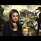 Mila Kunis Helps Newbie Interviewer Out