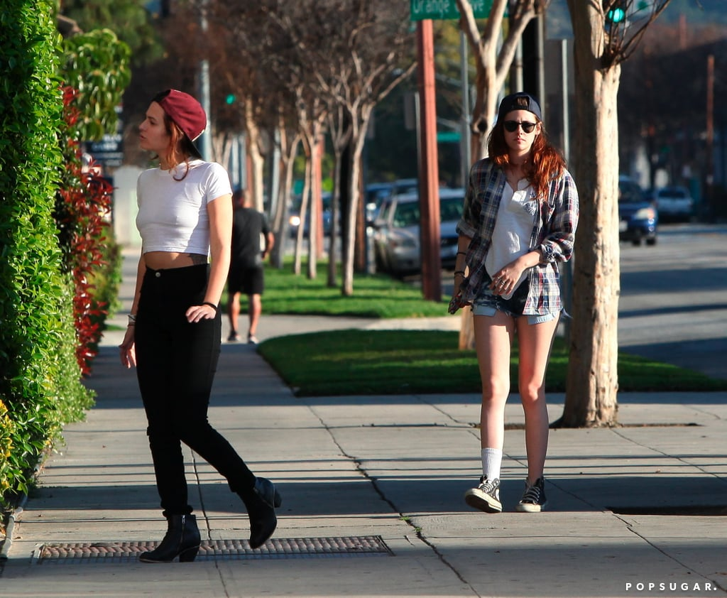Kristen Stewart and a friend arrived at the batting cages.