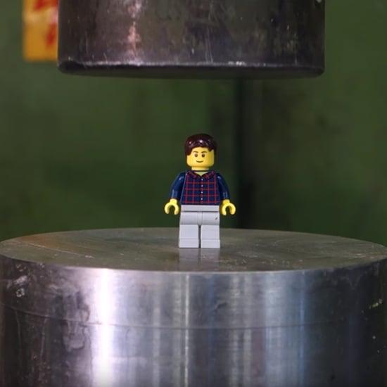 Hydraulic Press Crushing Legos