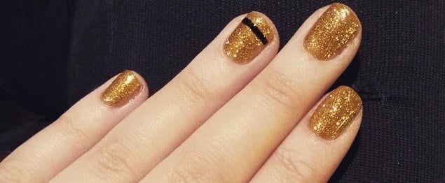Easy NYE Nail Art