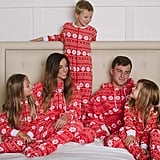 SleepytimePjs Family Matching Red Snowflake Onesie Pajamas