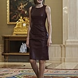 Queen Letizia wearing Hugo Boss.