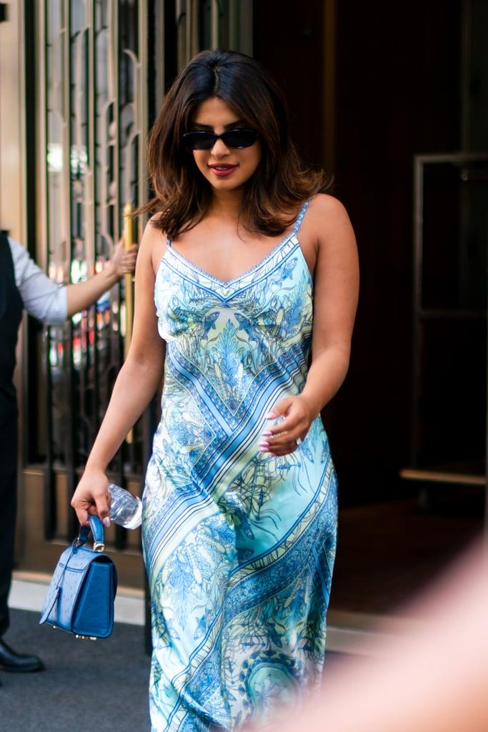 Priyanka Chopra Slip Dress by Hale Bob in NYC