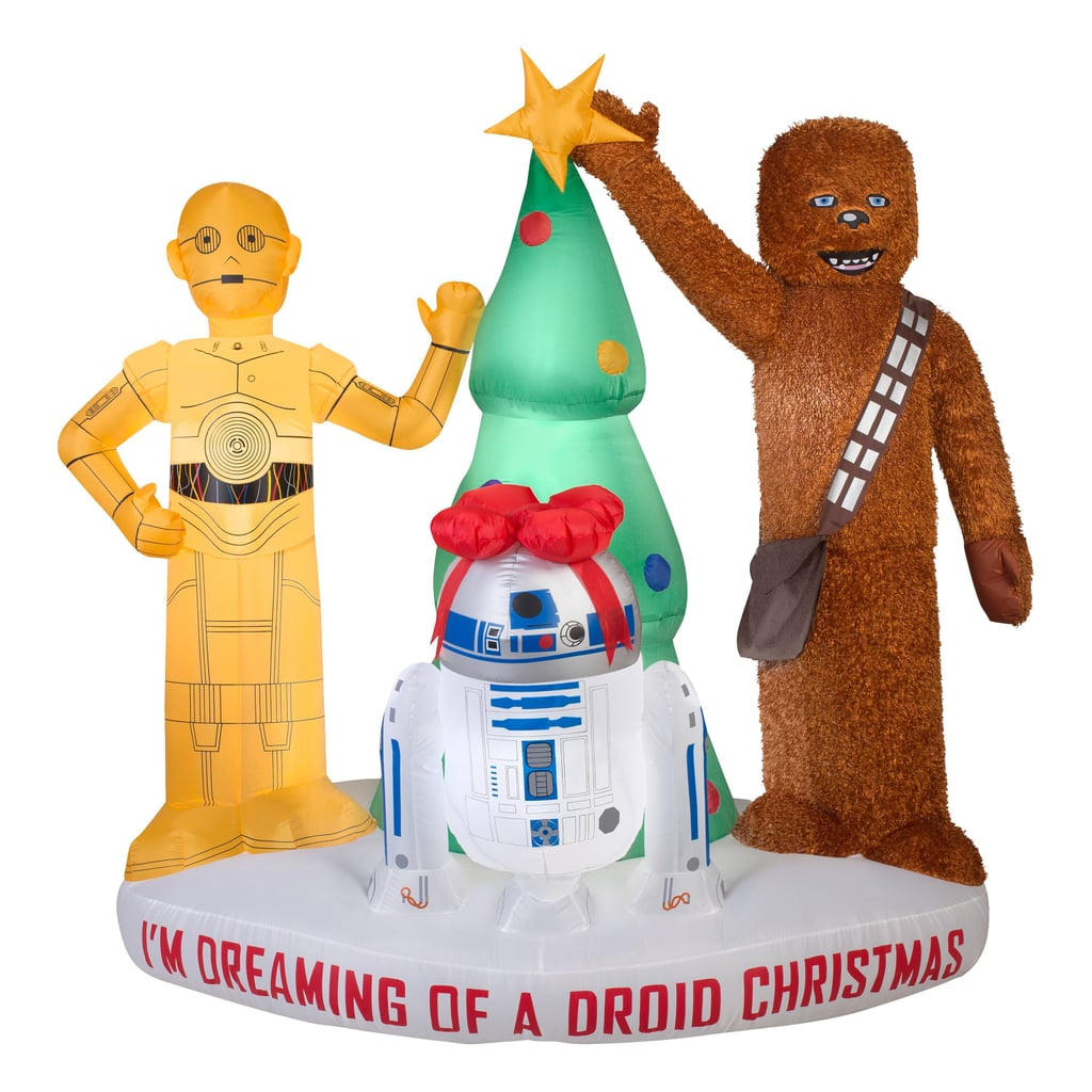6 foot blow up star wars tree scene lawn ornament - Star Wars Blow Up Christmas Decorations
