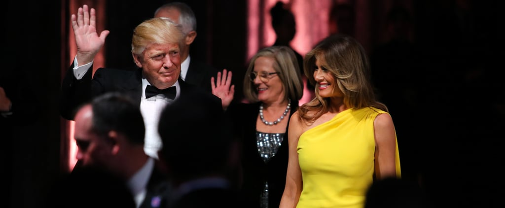 It's Hard to Miss the Symbolism Behind Melania Trump's Yellow Christian Dior Dress