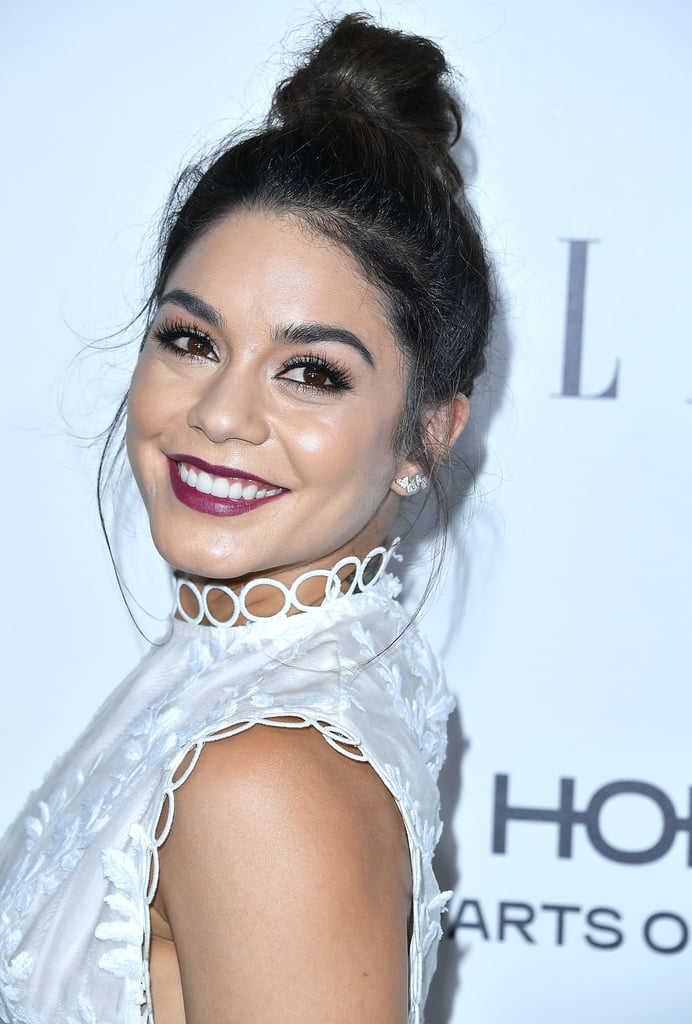 Vanessa Hudgens's Updo Looks Like a Basic Topknot — Until She Turns Around