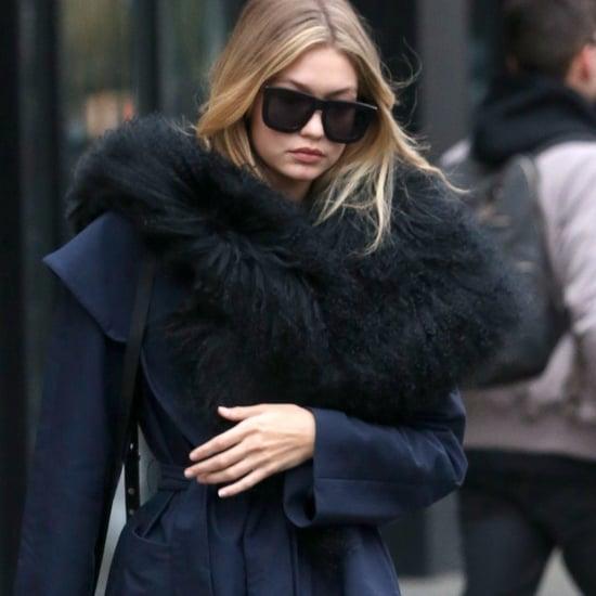 Gigi Hadid's Furry Coat
