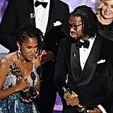 Karen Rupert Toliver and Matthew A. Cherry at the 2020 Oscars