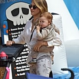 Jessica Alba carried Haven Warren through the pumpkin patch in LA.