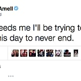 Clearly, Amell actually had the best day ever.