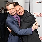 Giving Gary Oldman some love at the Tinker, Tailor, Soldier, Spy London premiere in 2011.