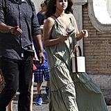 Selena Gomez's Green Birthday Dress