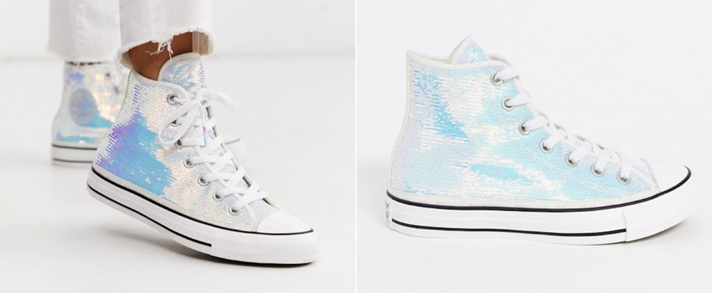 Converse Iridescent Sequin High-Top Sneakers 2020