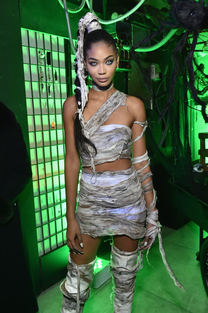 chanel iman as a mummy heidi klum 39 s halloween party. Black Bedroom Furniture Sets. Home Design Ideas