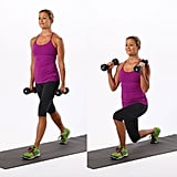 Dumbbell Lunges With Biceps Curl