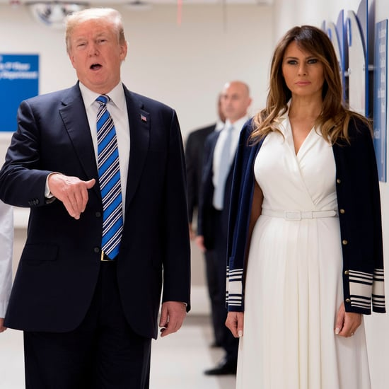 Melania Trump's White Belted Dress