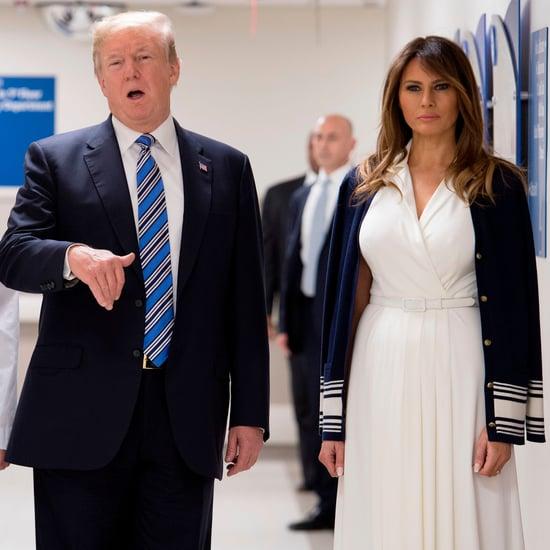 Melania Trump's White Belted Dress