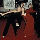 She and her My Best Friend's Wedding costar Cameron Diaz got cheeky at the Golden Globes in 2000.