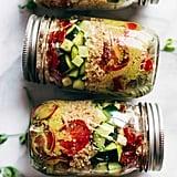 Summer Quinoa Salad Jars With Lemon Dill Dressing