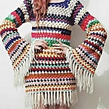 Crochet Bell-Sleeved Dress