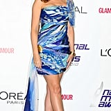 We love Kylie Minogue in her casual cool outfits, but it's refreshing to see her in a dressed-up and dazzling look by Emilio Pucci.
