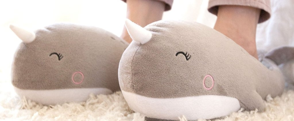 Narwhal Heated Slippers on Amazon