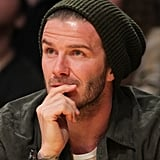 David Beckham watched the Lakers play the Clippers.