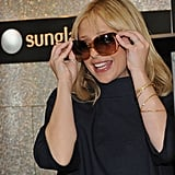 Sarah Michelle at the Sunglass Hut