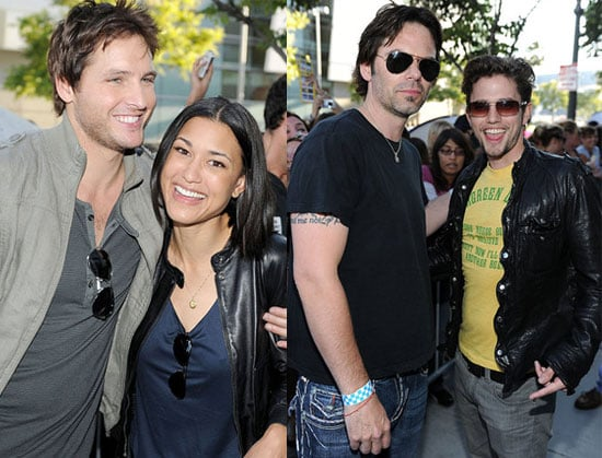 Pictures of Twilight Eclipse Stars Peter Facinelli, Jackson Rathbone, Julia Jones and Billy Burke Visiting Fans Tent City in LA 2010-06-24 15:30:14
