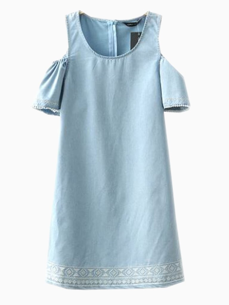 Choies Blue Denim Shift Dress