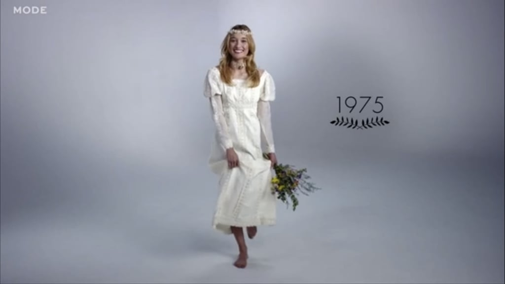 100 Years Of Wedding Dresses Video POPSUGAR Fashion - Wedding Dress 100