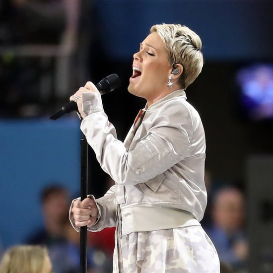 Pink Responds to Troll After Singing National Anthem 2018
