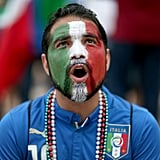 In Brazil, an Italian fan reacted to the game against Costa Rica.