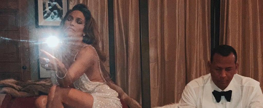 Jennifer Lopez Silver Sequin Dress After 2019 Grammys