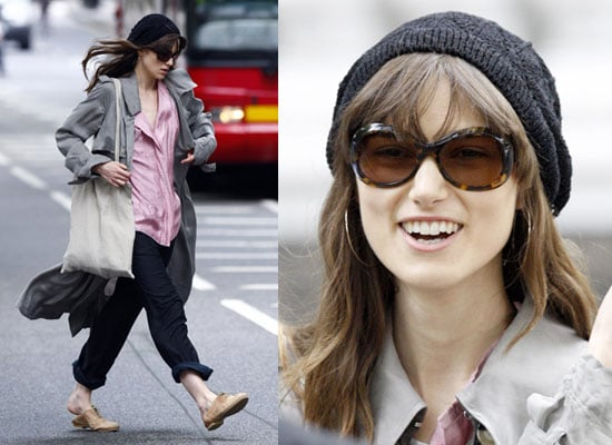 Photos of Keira Knightley Filming London Boulevard