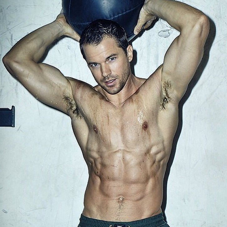 Naked male fitness trainers consider