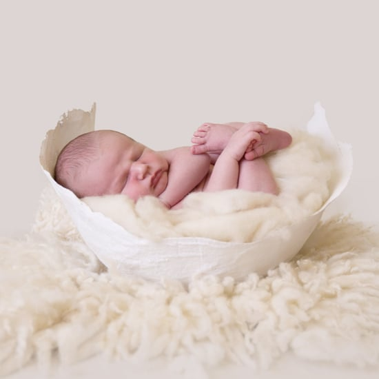 Newborn Photos in Baby Bump Cast Molds