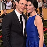Julianna Margulies and her husband, Keith Lieberthal, got cute on the carpet.