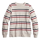 Plus Size POPSUGAR Striped Sweatshirt