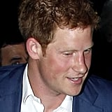 Prince Harry was all smiles.